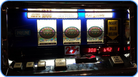 Traditional slot machine at land-based casino