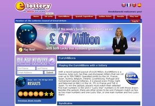Euromillions syndicate or play this lotto online