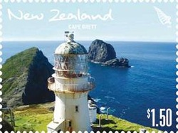 New Zealand cape brett lighthouse stamp $1.50
