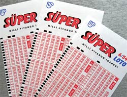 Turkey Super Lotto 6/54 blank coupon slips.