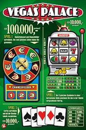 Austrian Lottery Scratch Card caled Vegas Palace.