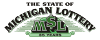 35 years of the State of Michigan Lottery anniversary logo