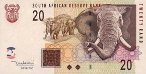 South Africa Banknote used to buy South Africa Lotto ticket.