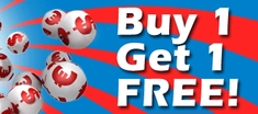 Buy lotto and lottery tickets online for the first time and get one ticket absolutely free, as a welcome bonus.