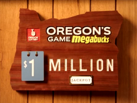 Oregon's lottery game Megabucks graphics