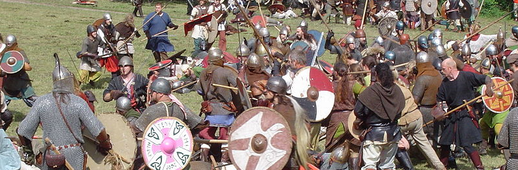 Vikings fight in ancient battlepicture