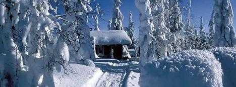Finland country in snow