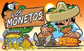Austrian Lottery Scratch Card called Los Monetos.